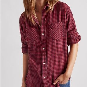 Current/Elliott -Collared Long Sleeve Check Shirt